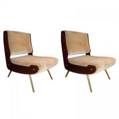 Gianfranco Frattini Gianfranco Frattini Pair of Mid Century Slipper Chairs - 251740