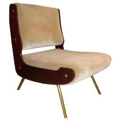 Gianfranco Frattini Gianfranco Frattini Pair Of Mid Century Slipper Chairs    251742