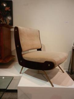 Gianfranco Frattini Gianfranco Frattini Pair of Mid Century Slipper Chairs - 251744