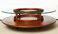 Gianfranco Frattini Round Low Table by Gianfranco Frattini for Cassina Italy c 1960 - 480617