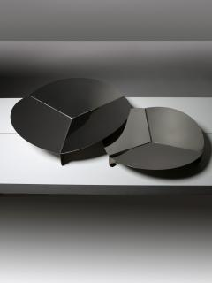 Gianfranco Grignani Pair of Steel Centerpieces by Grignani for Luci - 1179250