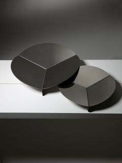 Gianfranco Grignani Pair of Steel Centerpieces by Grignani for Luci - 1179252