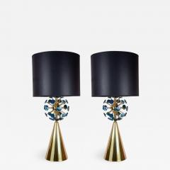 Gianluca Fontana Fantastic pair of lamps with agates by Gianluca Fontana - 732048
