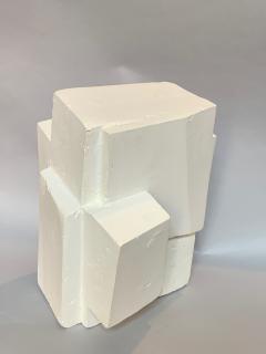 Gianluca Vignobles Gianluca Vignobles Geometric Abstract Sculpture in White Plaster Italy 2020 - 1958043