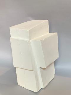 Gianluca Vignobles Gianluca Vignobles Geometric Abstract Sculpture in White Plaster Italy 2020 - 1958044