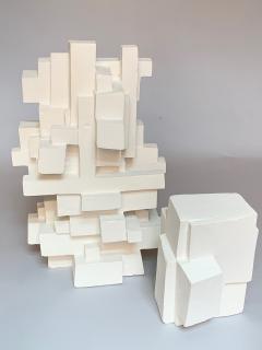 Gianluca Vignobles Gianluca Vignobles Geometric Abstract Sculpture in White Plaster Italy 2020 - 1958056