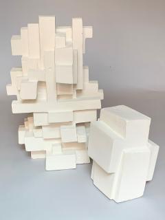 Gianluca Vignobles Gianluca Vignobles Geometric Abstract Sculpture in White Plaster Italy 2020 - 1958057