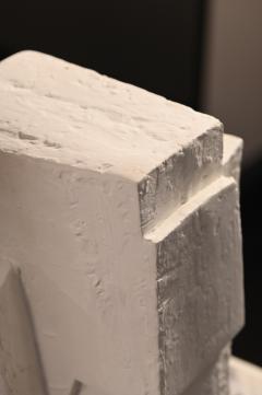 Gianluca Vignobles Gianluca Vignobles Geometric Abstract Sculpture in White Plaster Italy 2020 - 1958088
