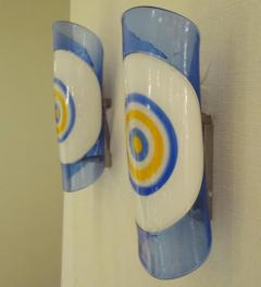 Gianmaria Potenza A Pair of Hand Blown Modernist Wall Sconces by Gianmaria Potenza - 256041