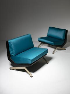 Gianni Moscatelli Pair of Lounge Chairs by Gianni Moscatelli for Formanova - 1236903