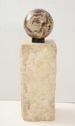 Giant Polished Petrified Wood Sphere  - 1138534