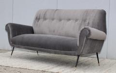 Gigi Radice Gigi Radice Gray Velvet Sofa - 1121218