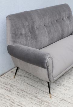 Gigi Radice Gigi Radice Gray Velvet Sofa - 1121222