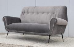 Gigi Radice Gigi Radice Gray Velvet Sofa - 1121224