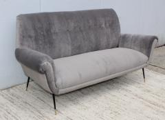 Gigi Radice Gigi Radice Gray Velvet Sofa - 1121228