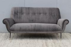 Gigi Radice Gigi Radice Gray Velvet Sofa - 1121229