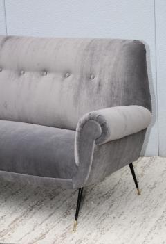 Gigi Radice Gigi Radice Gray Velvet Sofa - 1121230