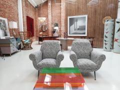 Gigi Radice Gigi Radice Mid Century Modern for Minotti Pair of Italian Armchairs - 1143303