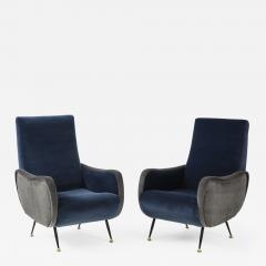 Gigi Radice Pair of Italian arm chairs by Gigi Radice Italy - 1208113