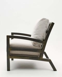 Gil Melott Gil Melott BESPOKE TX6315 Handmade Custom Steel Urban Lounge Chair for Studio 6F - 1468187