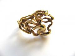 Gilbert Albert Gilbert Albert Lost my Marbles Gold and Agate Ring c1970 - 55202