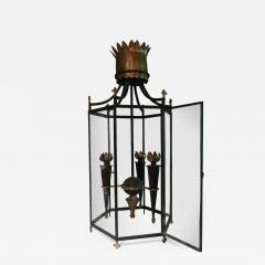 Gilbert Poillerat An iron and bronze chandelier in the style of Gilbert Poillerat France 40 - 770510