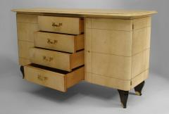 Gilbert Poillerat French 1940 Parchment Sideboard - 465438