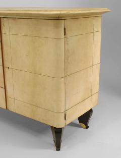 Gilbert Poillerat French 1940 Parchment Sideboard - 465439
