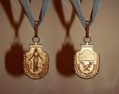 Gilbert Poillerat Gilbert POILLERAT Rare Art Deco Commander Silver Gilt Medal - 784278