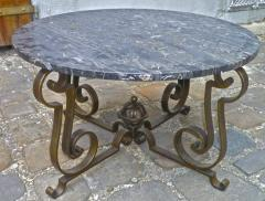 Gilbert Poillerat Gilbert Poillerat Round Wrought Iron Coffee Table with Astrolabe Center - 605426