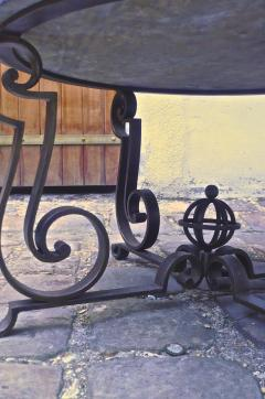 Gilbert Poillerat Gilbert Poillerat Round Wrought Iron Coffee Table with Astrolabe Center - 605429