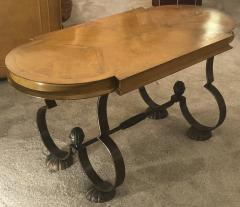 Gilbert Poillerat Gilbert Poillerat attributed charming exquisite coffee table in wood and iron - 1168059