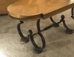 Gilbert Poillerat Gilbert Poillerat attributed charming exquisite coffee table in wood and iron - 1168077