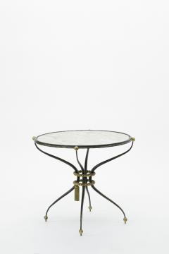 Gilbert Poillerat Gilbert Poillerat pair of wrought iron coffee table with mirror top - 830302