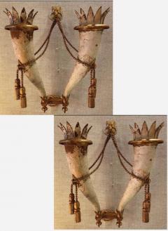 Gilbert Poillerat Gilbert Poillerat rarest defined pair of wrought iron patinated sconces - 1479742