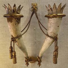 Gilbert Poillerat Gilbert Poillerat rarest defined pair of wrought iron patinated sconces - 1479743