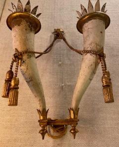 Gilbert Poillerat Gilbert Poillerat rarest defined pair of wrought iron patinated sconces - 1479782
