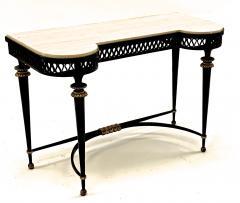 Gilbert Poillerat Gilbert Poillerat superb wrought iron console with gold bronze accent - 1525413