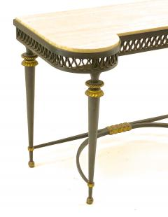 Gilbert Poillerat Gilbert Poillerat superb wrought iron console with gold bronze accent - 1525420