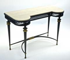 Gilbert Poillerat Gilbert Poillerat superb wrought iron console with gold bronze accent - 1525427