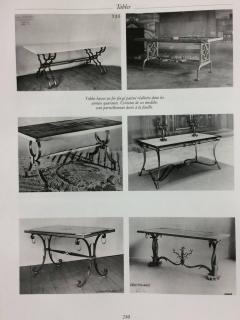 Gilbert Poillerat Gilt Iron and Stone Table - 596650