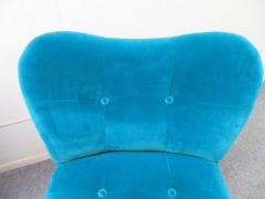 Gilbert Rohde Excellent Pair of Gilbert Rohde Style Mohair Slipper Chairs Mid Century Modern - 1684838