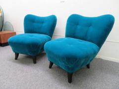 Gilbert Rohde Excellent Pair of Gilbert Rohde Style Mohair Slipper Chairs Mid Century Modern - 1684840
