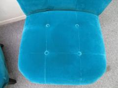 Gilbert Rohde Excellent Pair of Gilbert Rohde Style Mohair Slipper Chairs Mid Century Modern - 1684841