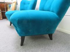 Gilbert Rohde Excellent Pair of Gilbert Rohde Style Mohair Slipper Chairs Mid Century Modern - 1684843