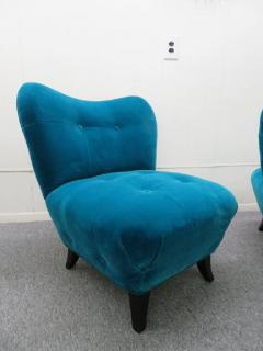 Gilbert Rohde Excellent Pair of Gilbert Rohde Style Mohair Slipper Chairs Mid Century Modern - 1684850