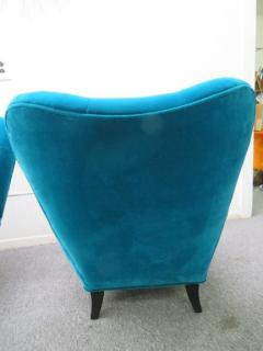 Gilbert Rohde Excellent Pair of Gilbert Rohde Style Mohair Slipper Chairs Mid Century Modern - 1684851
