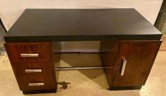 Gilbert Rohde Gilbert Rohde Art Deco Ebony Top Mid Century Modern Desk or Writing Table - 1243443