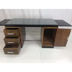 Gilbert Rohde Gilbert Rohde Art Deco Ebony Top Mid Century Modern Desk or Writing Table - 1243444
