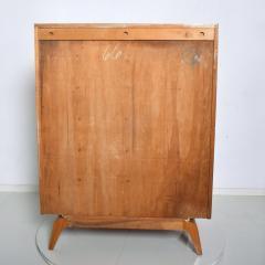 Gilbert Rohde Gilbert Rohde Elegant Sapele High Dresser Chest Lucite Pulls Flared Legs 1940s - 2018553